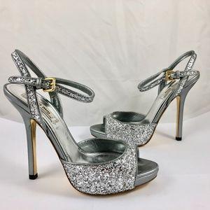 ab760e2d7b7 MIU MIU PRADA Glitter Leather Pumps Heels Sandals